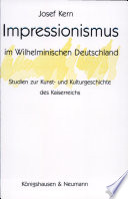 Impressionismus im Wilhelminischen Deutschland
