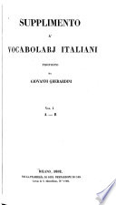 Supplimento a'vocabolarj italiani