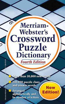 Merriam Webster s Crossword Puzzle Dictionary Edition Includes More Than 340 000