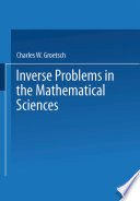 Inverse Problems in the Mathematical Sciences