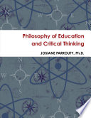 Philosophy of Education and Critical Thinking