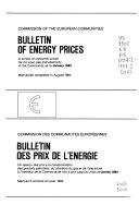 Bulletin Des Prix de L'énergie
