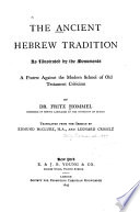 The Ancient Hebrew Tradition as Illustrated by the Monuments