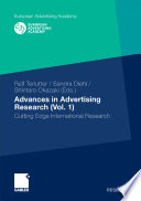 Advances in Advertising Research  Vol  1