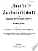 Annalen der Landwirthschaft in den Königlich Preussischen Staaten