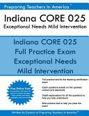 Indiana Core 025 Exceptional Needs