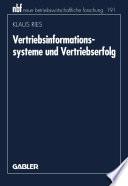 Vertriebsinformationssysteme und Vertriebserfolg