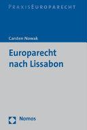 Europarecht nach Lissabon