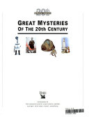 Great mysteries of the 20th century Pdf/ePub eBook