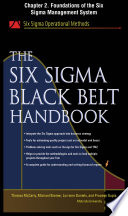 The Six Sigma Black Belt Handbook  Chapter 2   Foundations of the Six Sigma Management System