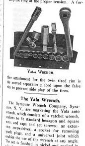 [1908 Notice for Yala Wrench Set]