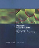 Microsoft Visual C  2008  An Introduction to Object Oriented Programming