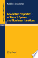 Geometric Properties of Banach Spaces and Nonlinear Iterations