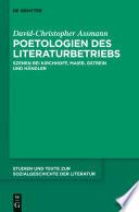 Poetologien des Literaturbetriebs