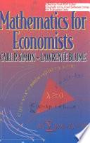 Mathematics For Economists, Simon & Blume, 1994 : of modern analytical economics. it quantities...