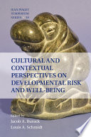 Cultural and Contextual Perspectives on Developmental Risk and Well Being