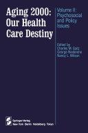download ebook aging 2000: our health care destiny pdf epub