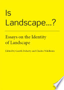 Is Landscape...? : definitions of landscape. rather than...