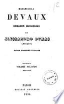 Madamigella Devaux nuovissimo romanzo di Alessandro Dumas  figlio