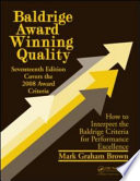 Baldrige Award Winning Quality    17th Edition