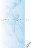 Oxford Studies in Philosophy of Law