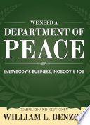 We Need a Department of Peace  Everybody s Business  Nobody s Job