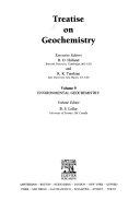 Treatise on Geochemistry  Environmental geochemistry
