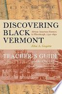 Discovering Black Vermont Book PDF