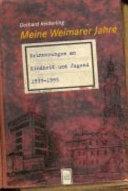 Meine Weimarer Jahre