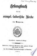 Gesangbuch f  r die evangel  lutherische Kirche in Bayern