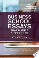 Business School Essays That Made a Difference  6th Edition