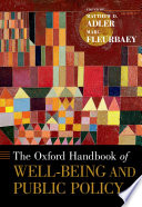 The Oxford Handbook Of Well Being And Public Policy