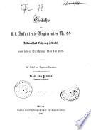 Geschichte des kaiserlich-königlichen Infanterie-Regimentes Nummer 44