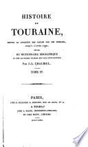 Histoire de Touraine  depuis la conqu  te des Gaules 1790