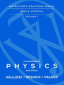 Instructor s Solutions Manual to Accompany Fundame Ntals of Physics
