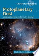 Protoplanetary Dust