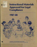 Instructional Materials Approved for Legal Compliance  1987 88