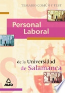 Personal Laboral Universidad de Salamanca. Temario Comun Y Test Ebook