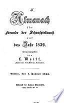 Almanach für Freunde der Schauspielkunst