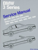 Bentley Bmw 3 Series Service Manual 1992 1998