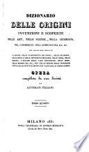 Dizionario Delle Origini Invenzioni E Scoperte  QUA   ZUI