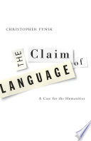 The Claim Of Language