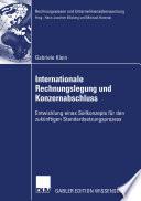 Internationale Rechnungslegung und Konzernabschluss