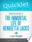 download ebook quicklet on rebecca skloot's the immortal life of henrietta lacks pdf epub