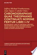 Chronographiae quae Theophanis Continuati nomine fertur Libri I IV