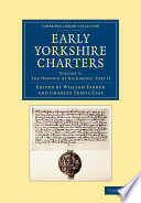 Ebook Early Yorkshire Charters: Volume 5, The Honour of Richmond Epub William Farrer,Charles Travis Clay Apps Read Mobile