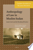 Anthropology of Law in Muslim Sudan