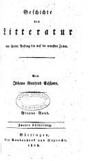 Geschichte der Litteratur von ihren Anfang bis auf die neuesten Zeiten