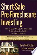 Short Sale Pre Foreclosure Investing