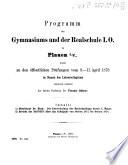 Programm des Gymnasiums und der Realschule I. Ordnung zu Plauen